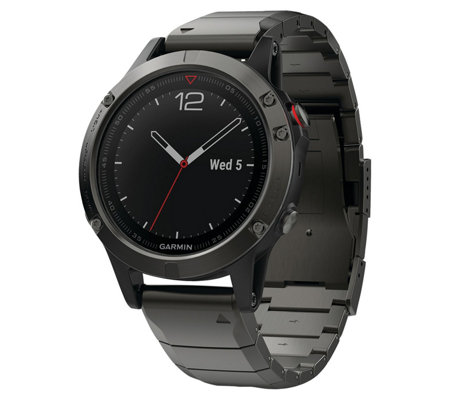 Garmin fenix 5 47 Smartwatch Sapphire Edition with Metal Band