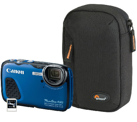 Canon Waterproof 12MP Camera with Pouch & 16GBCard