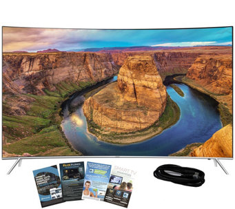 "Samsung 55"" LED 4K SUHD Curved Smart TV with HDMI & App Pack - E288736"
