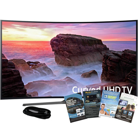 "Samsung 49"" Smart LED Curved Ultra HDTV with HDMI and App Pac"