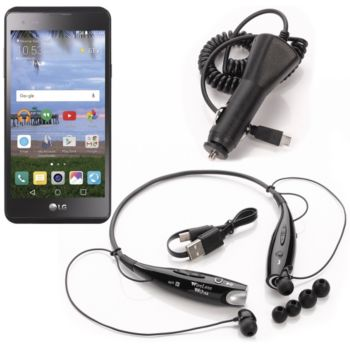 Simple Mobile LG 53 X Style LTE Smartphone w/ 2 Unlimited 30-Day Plans