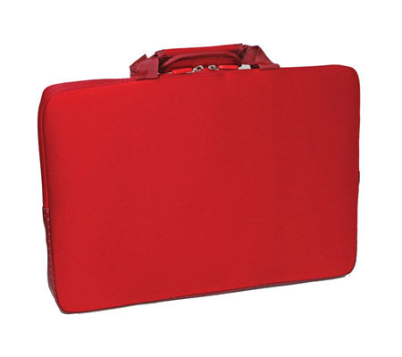 "15.6"" Notebook Sleeve with Lycra Exterior Shell- Red"