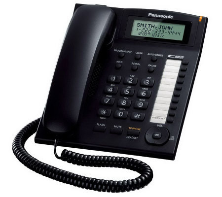 Panasonic 1-Line Corded Telephone with 2-Step Tilt Angle