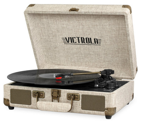 Portable Victrola Suitcase Bluetooth Record Player