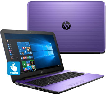 "HP 15"" Touch Laptop w/ Intel 4GB RAM, 500GB Webcam, DVD-RW & Lifetime Tech - E229638"