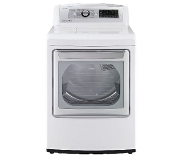 LG 7.3 Cubic Foot Ultra-Large SteamDryer - White - E283938