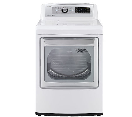 LG 7.3 Cubic Foot Ultra-Large SteamDryer - White