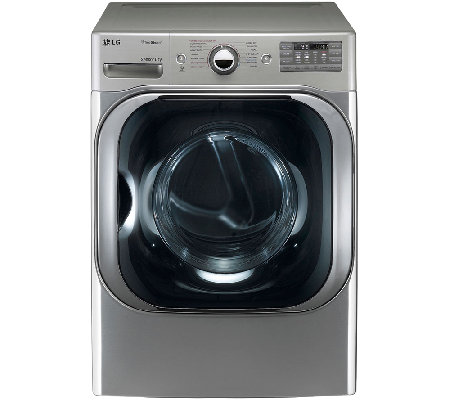 LG 9 Cubic Foot Graphite Mega-Capacity ElectricSteamDryer