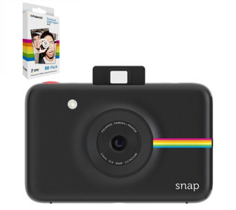 Polaroid Snap Instant Camera with 32GB microSD& 60 Prints - E289938