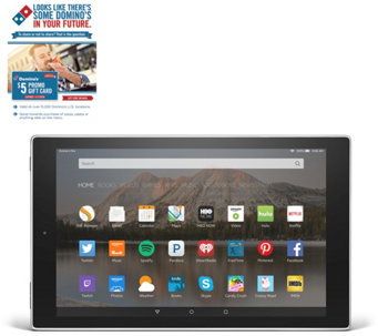 "Amazon 10"" Quad Core Tablet 16GB w/ Case & Software &Domino's Offer - E229739"