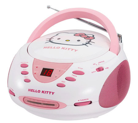 Hello Kitty KT2024A Stereo CD Boombox with AM/FM Radio