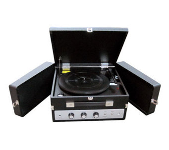 Pyle PLTTB8UI Classical Vinyl Turntable RecordPlayer - E253439