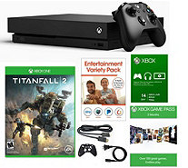 Ships 12/18 Xbox One X 1TB Bundle with Titanfall 2 & Game Pas - E293239
