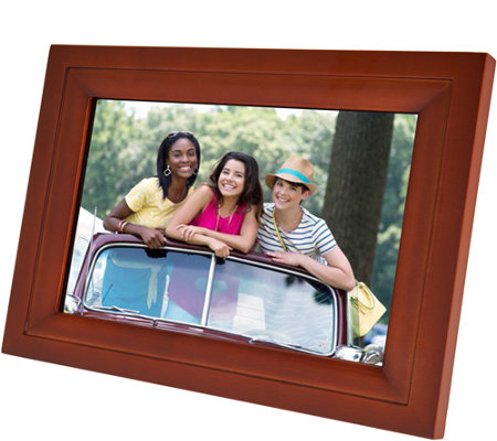 "WiFi 10"" Touchscreen Picture Frame with App, Pair up to 7 Devices"