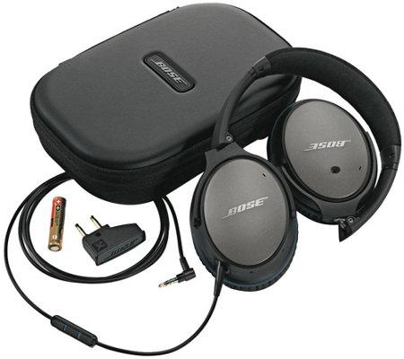 bose noise cancelling earphones. bose qc 25 black acoustic noise cancelling headphones earphones n