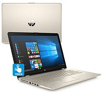 "HP 17"" Touch Laptop Gold Blossom Core i5 8GB RAM 2TB HDD with MS Office - E231840"