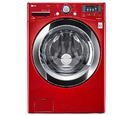 LG 4.3 Cu.Ft. High-Efficiency Front Load Washer-Red