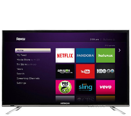"Hitachi 32"" 1080p LED HDTV with Roku Streaming"
