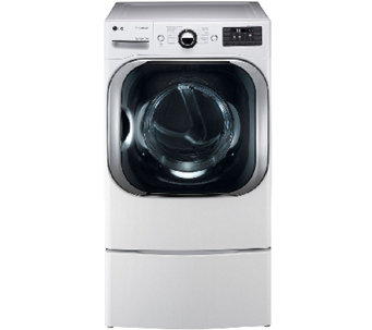 LG 9 Cubic Foot Mega-Capacity Electric SteamDryer - E285840