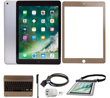 "Apple iPad 9.7"" 32GB Wi-FI Tablet w/ Keyboard and Accessories"