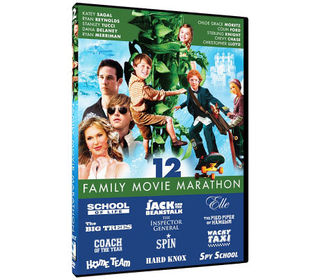 Family Movie Marathon 12-Film Collection Three-Disc DVD Set
