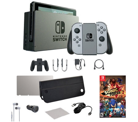 Nintendo Switch Console with Sonic Forces Game& Accessories
