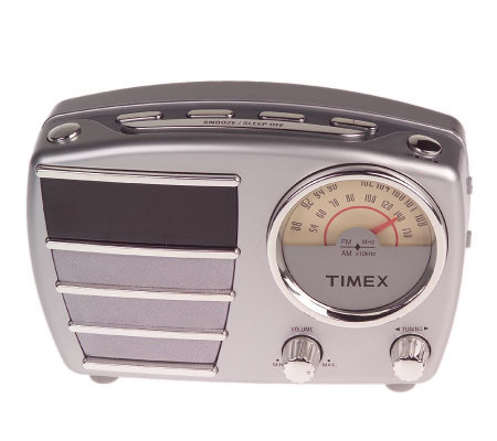 timex retro style am fm radio alarm clock. Black Bedroom Furniture Sets. Home Design Ideas