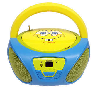 Nickelodeon Character CD Boombox with AM/FM Radio - E275642