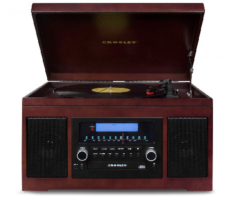 Crosley Cannon 3-Speed CD-Recording Entertainment System