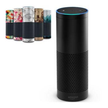 Amazon Echo Speaker w/ 2 Plus Months Music, Audible Books & Skin