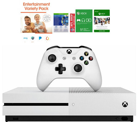 Xbox One S 500GB with 3 Months of Xbox Game Pass and App Pack