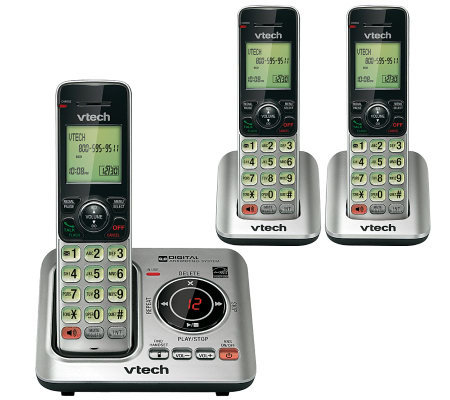 Vtech CS6629-3 Handset Cordless Answering System w/ Caller ID