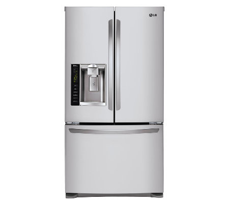 LG 24.7 Cubic Ft. 3-Door French Door Refrigerator - Stainless