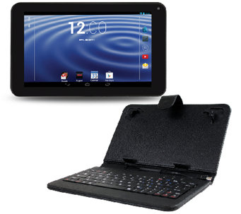 "RCA 7"" Tablet Android 4.4 Dual-Core 1GB with Ke yboard Case - E283443"