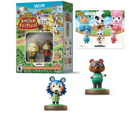 Animal Crossing Amiibo Festival Bundle with Seven Amiibos