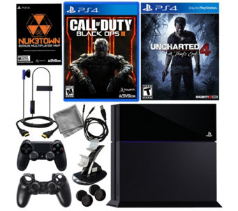 Sony PS4 500GB Call of Duty Black Ops III Bundle & Uncharted - E288644