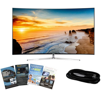 "Samsung 65"" LED 4K SUHD Curved Smart TV with HDMI & App Pack - E288744"