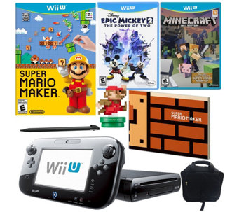 Wii U Mario Maker Bundle with Minecraft and Epic Mickey 2 - E289544