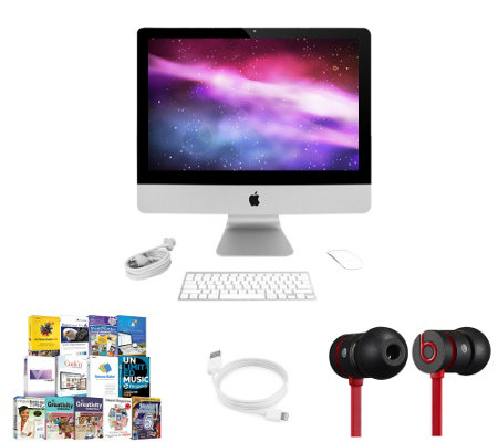 "Apple iMac 21"" with Beats urBeats Headphones &App Pack"