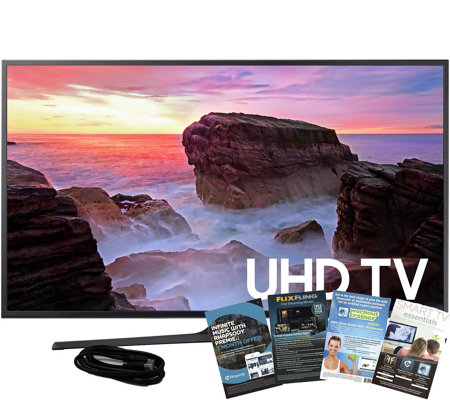 "Samsung 55"" LED Smart Ultra HD TV with HDMI Cable and App Pac"