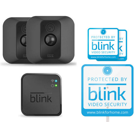 Blink XT 2 Pack Wire-Free HD Indoor/Outdoor Security Cams w/ Night Vision