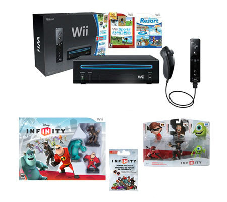 Disney Infinity Starter Bundle, Wii Console, & Controller