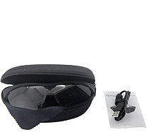 QUE Cyclops Full HD 1080p Video Glasses w/ 8GB SD Card & Case - E229046