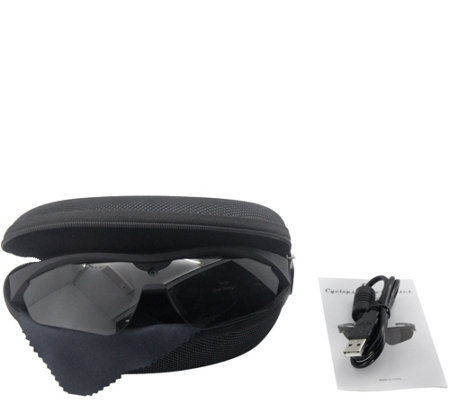 QUE Cyclops Full HD 1080p Video Glasses w/ 8GB SD Card & Case