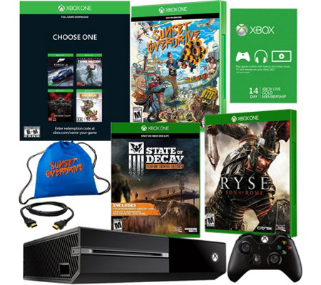 Xbox One 500GB Name Your Game Bundle w/ 4 Games & Accs.