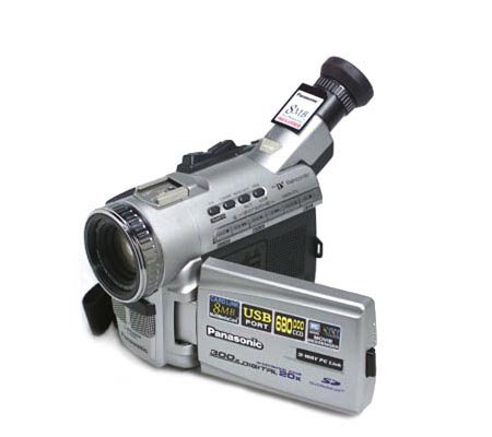 "Panasonic 300X Zoom Digital Camcorder with 2.5"" LCD and"