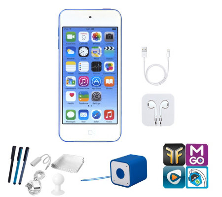 Apple iPod Touch 16GB with Bluetooth Speaker, App Pack & Accs
