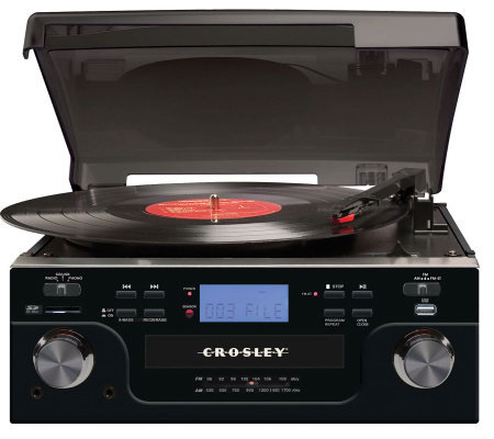 Crosley Tech USB Recordable Turntable with CD and AM/FM Radio