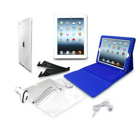"Apple iPad 9.7"" 32GB WiFi 4G with Keyboard Case Cover & Accessories"