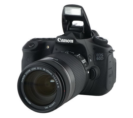 canon eos 60d dslr 18mp camera w lens bag 16gb card. Black Bedroom Furniture Sets. Home Design Ideas